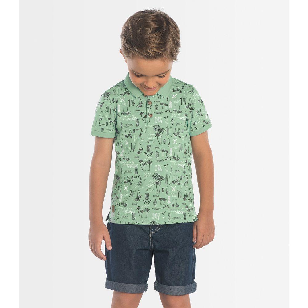 Polo-Infantil-Surf-Rovitex-Kids-Verde