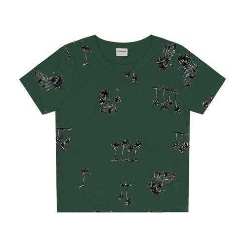 Camiseta-Infantil-Coqueiros-Rovitex-Kids-Verde