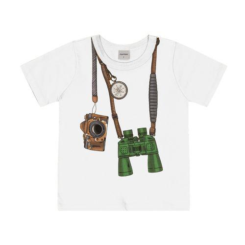 Camiseta-Infantil-Binoculo-Rovitex-Kids-Branco