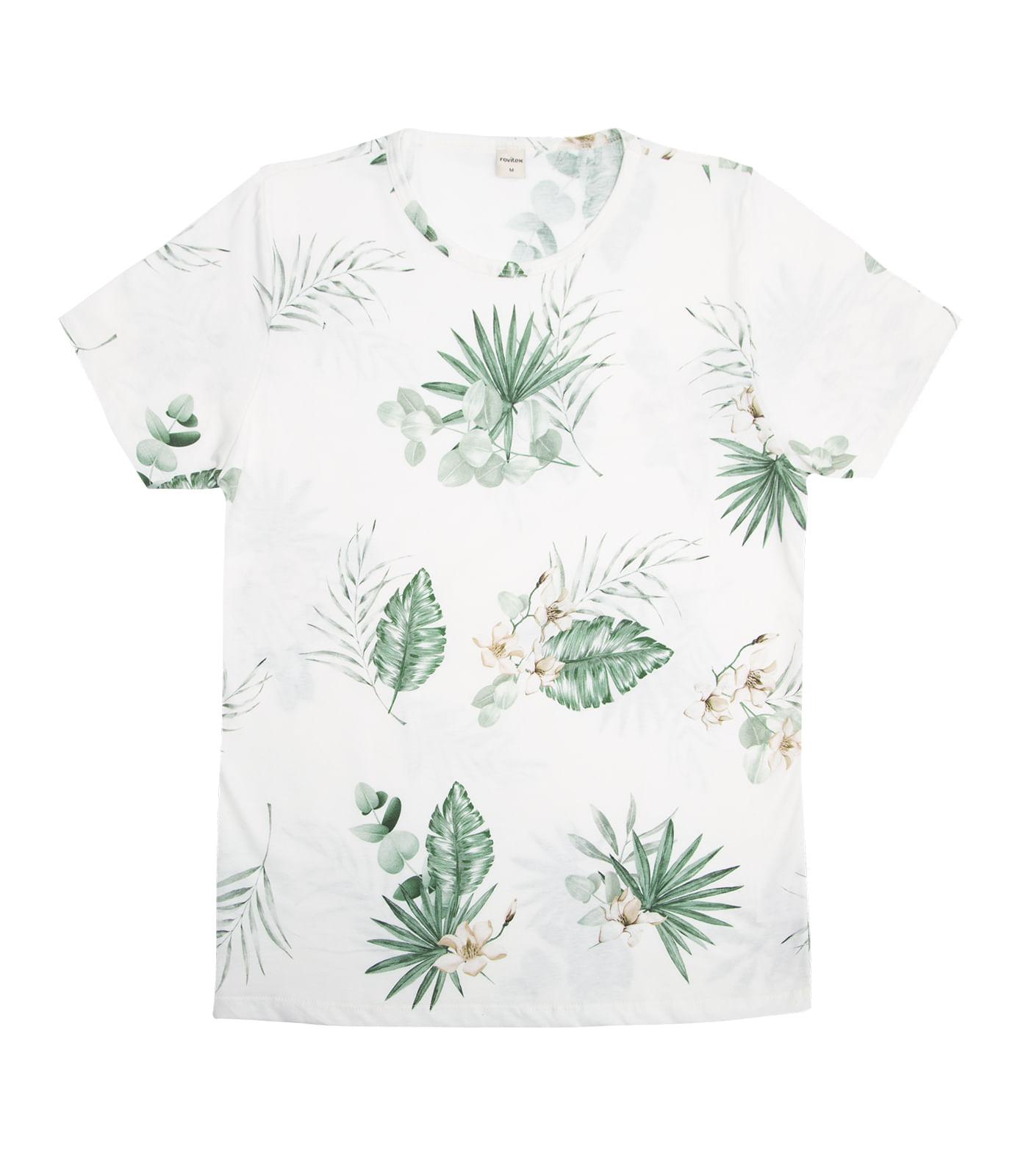 Camiseta-Masculina-Estampada-Rovitex-Bege