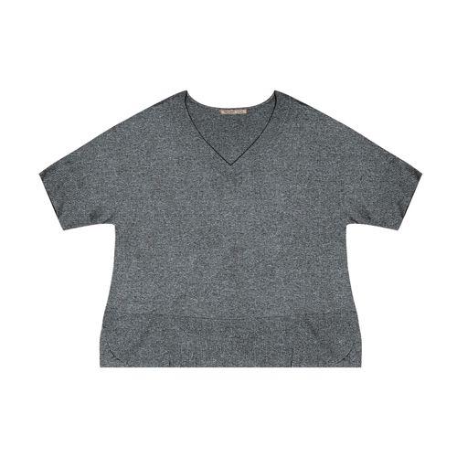 Blusa-Feminina-Plus-Size-Visco-Tricot-Secret-Glam-Cinza