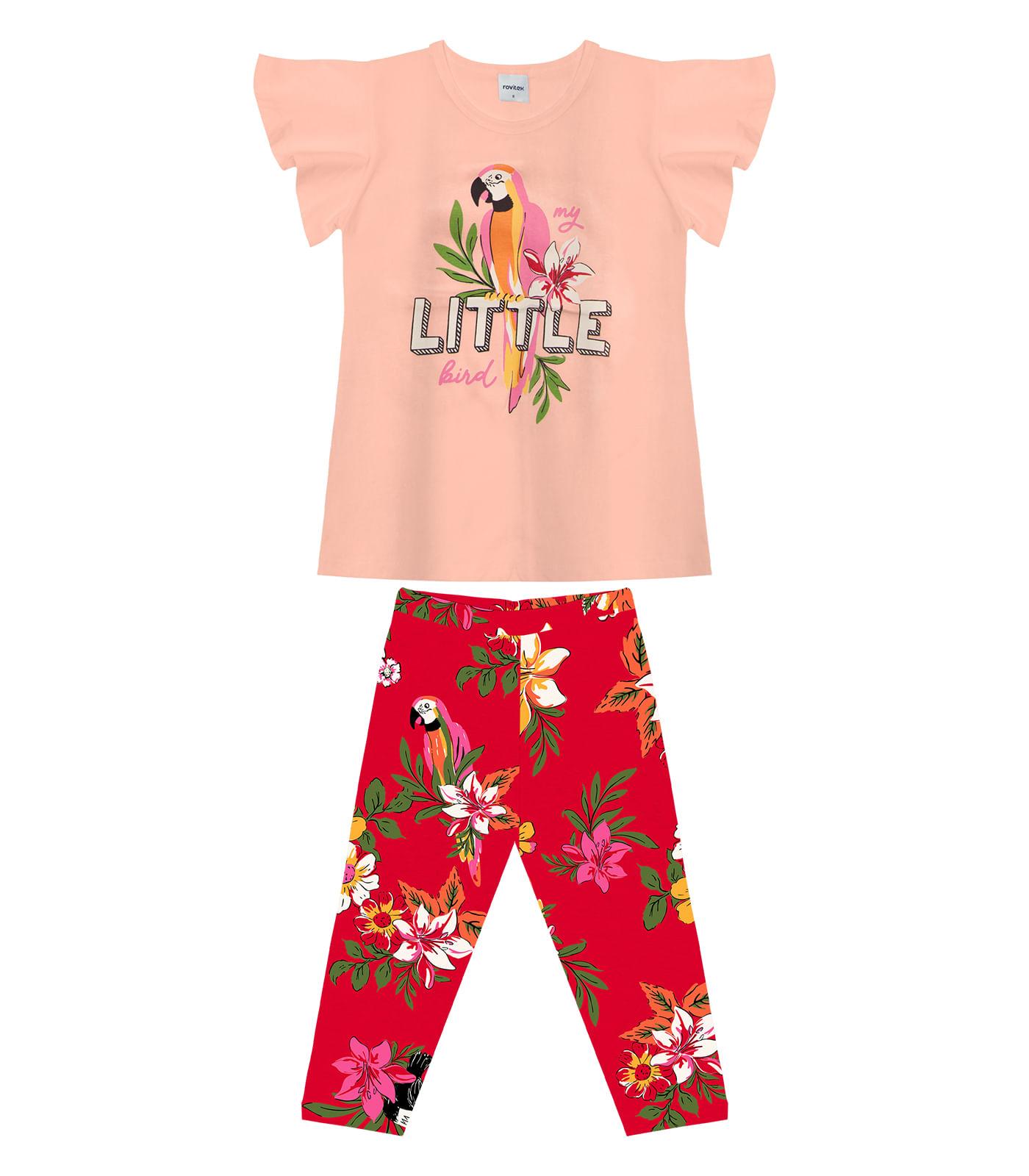 Conjunto-Feminino-Bird-Rovitex-Kids-Rosa
