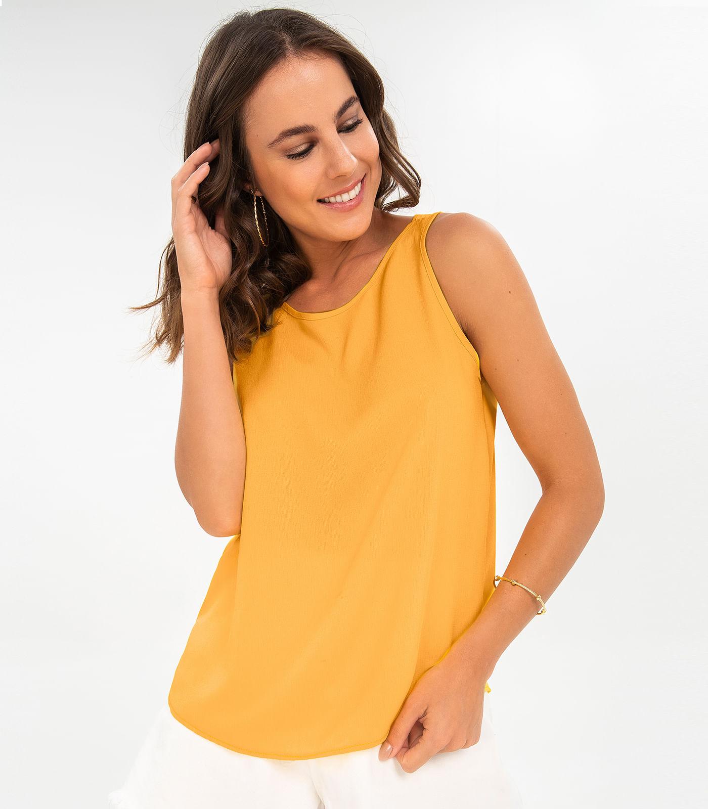 Regata-Feminina-Decote-Costas-Rovitex-Amarelo
