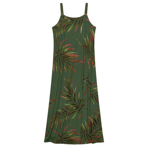 Vestido-Feminino-Longo-Folhas-Endless-Verde