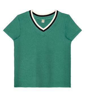 Blusa-Feminina-Decote-V-Rovitex-Verde