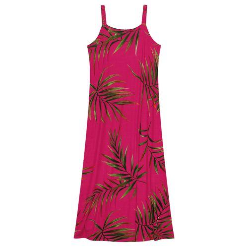 Vestido-Feminino-Longo-Folhas-Endless-Rosa