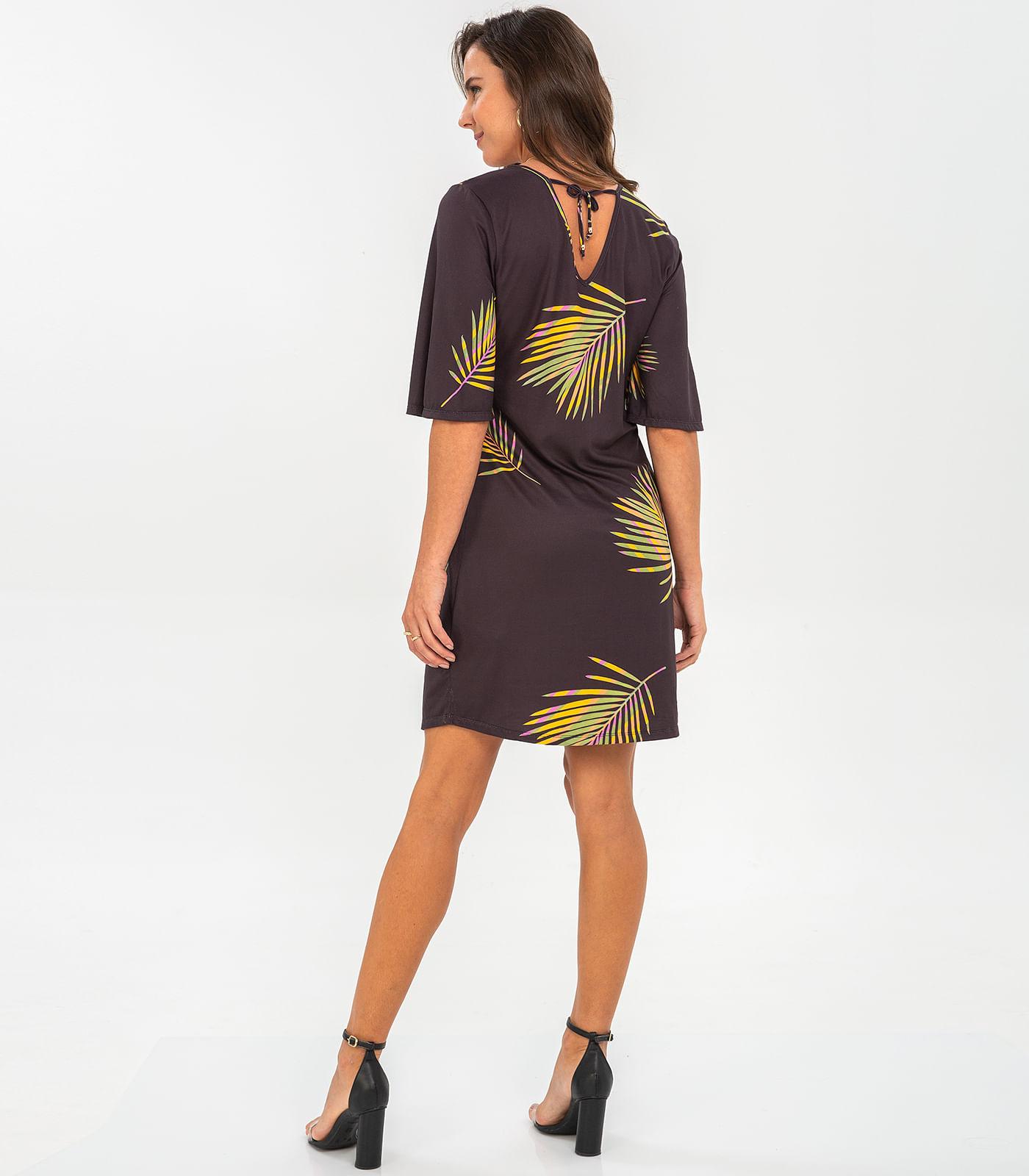 Vestido-Feminino-Floral-Rovitex-Preto