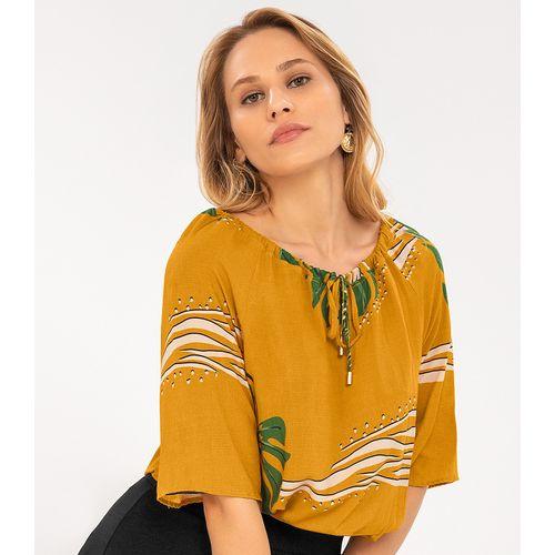 Blusa-Feminina-Khyara-Estampada-Rovitex-Amarelo