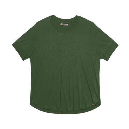 Blusa-Feminina-Plus-Size-Alongada-Secret-Glam-Verde