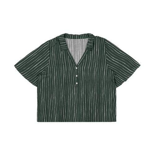 Camisa-Feminina-Plus-Size-Free-Rovitex-Plus-Verde