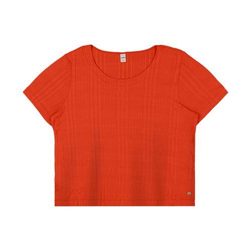 Blusa-Feminina-Plus-Size-Canelada-Rovitex-Plus-Laranja