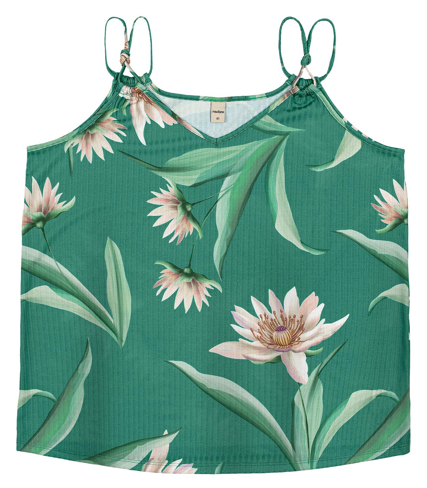 Blusa-de-Alca-Plus-Size-Floral-Rovitex-Plus-Verde