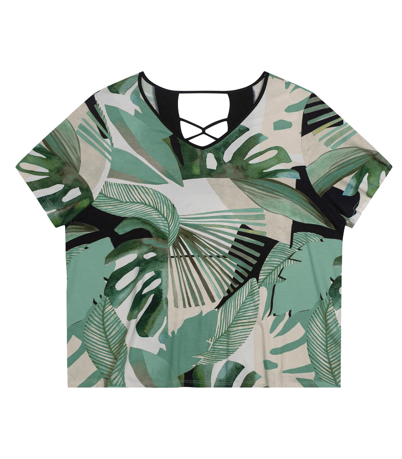 Blusa-Feminina-Plus-Size-Estampada-Secret-Glam-Verde