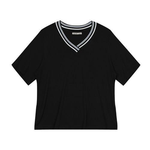 Blusa-Feminina-Plus-Size-Retilinea-Secret-Glam-Preto