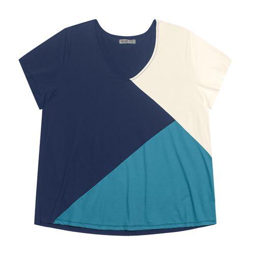 Blusa-Feminina-Plus-Size-Tricolor-Secret-Glam-Azul