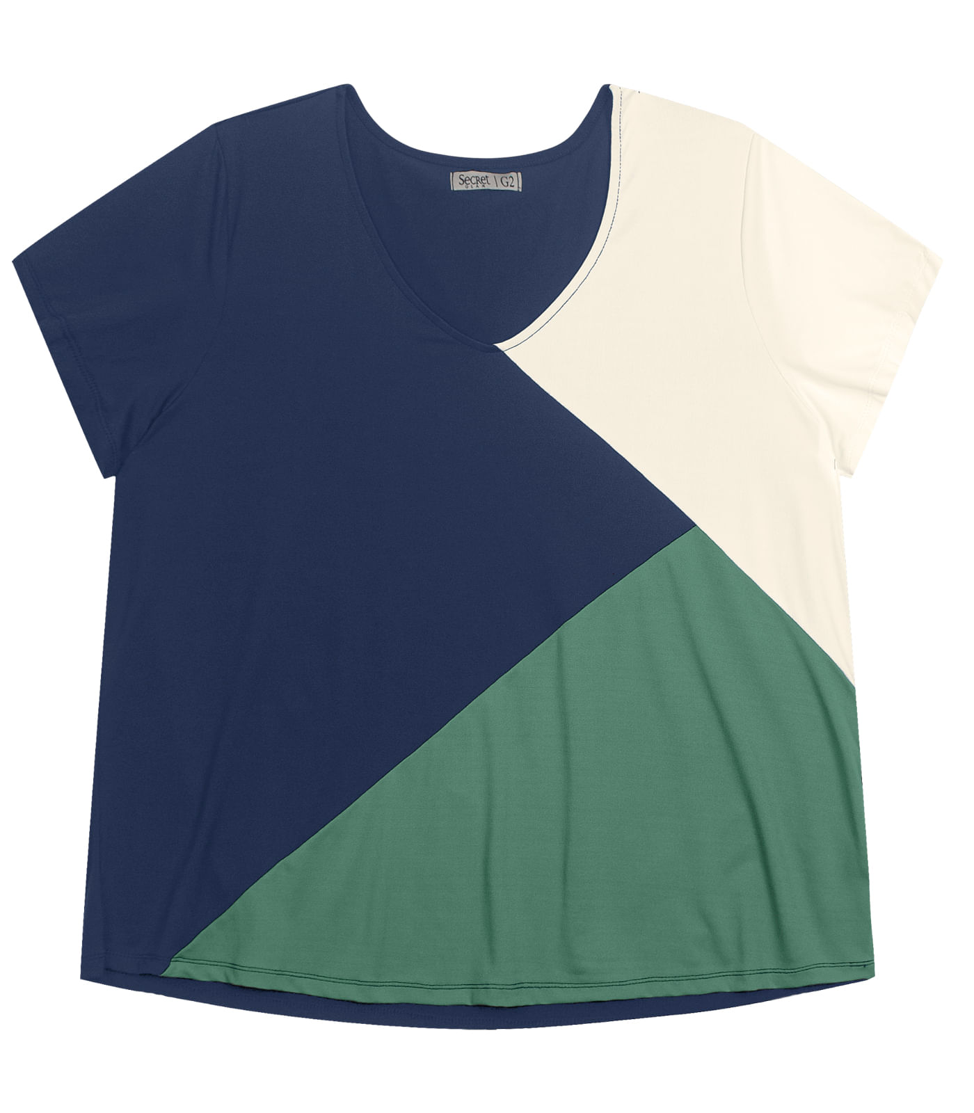 Blusa-Feminina-Plus-Size-Tricolor-Secret-Glam-Verde