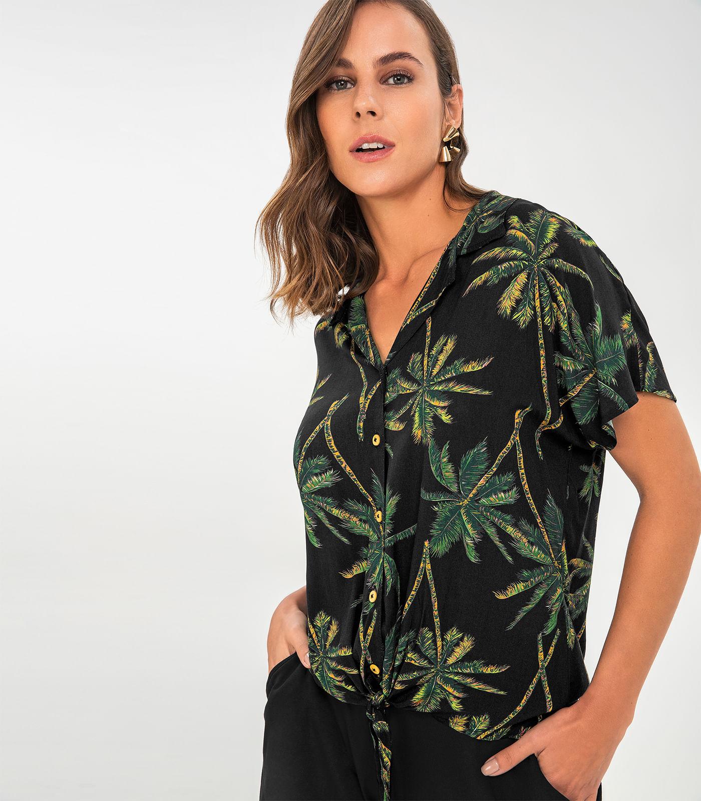 Camisa-Feminina-Estampada-Rovitex-Preto